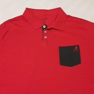 Kangol Men's S/L Polo Shirt Sz XL